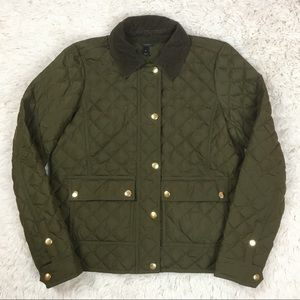 J. Crew quilted down utility field jacket
